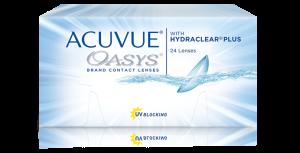 עדשות מגע דו-שבועיות Acuvue Oasys with Hydraclear Plus