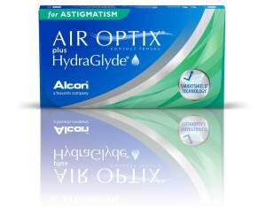 עדשות מגע חודשיות Air Optix plus HydraGlyde Astigmatism - צילינדר