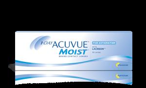 עדשות מגע צילינדר יומיות 1 Day Acuvue Moist for Astigmatism אקיוביו מויסט