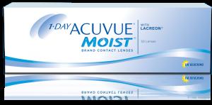 עדשות מגע יומיות 1-Day Acuvue Moist