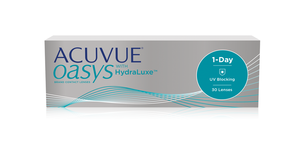 עדשות מגע יומיות Acuvue Oasys 1-Day with HydraLuxe