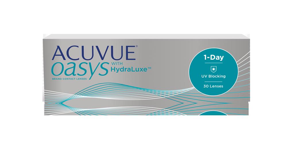 עדשות מגע יומיות Acuvue Oasys 1-Day with HydraLuxe