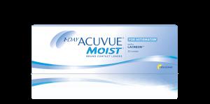 עדשות מגע יומיות 1 Day Acuvue Moist for Astigmatism - צילינדר
