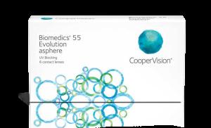 עדשות מגע חודשיות Biomedics 55 Evolution ביומדיקס אקסטרה