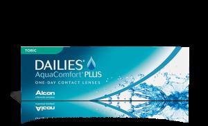 עדשות מגע צילינדר Dailies AquaComfort Plus Toric דייליס אקווה קומפורט