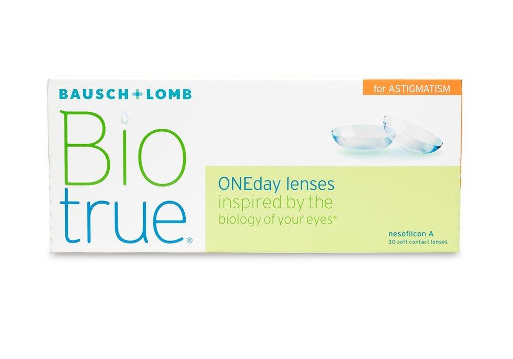 עדשות מגע יומיות Bausch + Lomb Biotrue ONEday Astigmatism – צילינדר