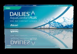עדשות מגע יומיות Dailies AquaComfort Plus Toric – צילינדר