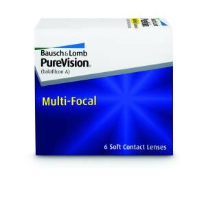 עדשות מגע חודשיות PureVision Multifocal - מולטיפוקל