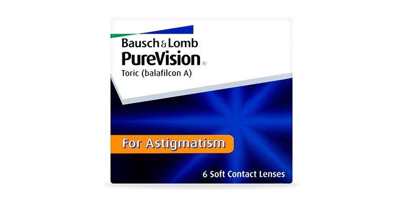 עדשות מגע חודשיות PureVision Toric