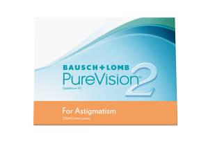 עדשות מגע חודשיות Bausch + Lomb PureVision2 for Astigmatism