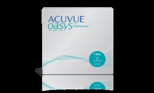 עדשות מגע יומיות Acuvue Oasys 1-Day with HydraLuxe אריזה גדולה אקיוביו אואזיס