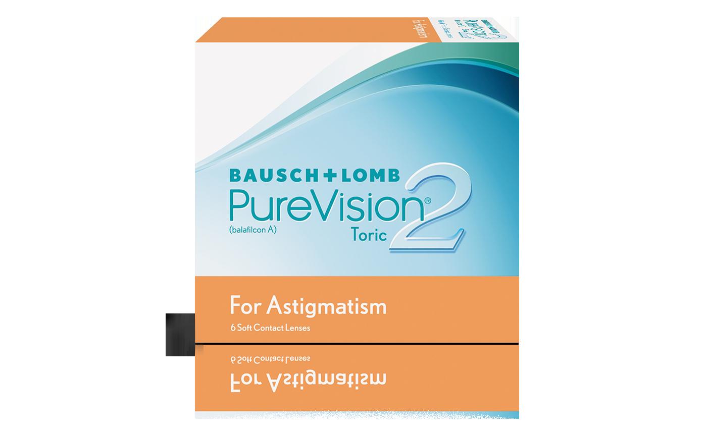 עדשות מגע צילינדר חודשיות Purevision2 Astigmatism פיורויז'ן