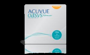 עדשות מגע צילינדר יומיות 1 Day Acuvue Oasys with Hydraluxe for Astigmatism אקיוביו אואזיס