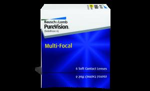 עדשות מגע מולטיפוקל חודשיות Purevision Multifocal פיורויז'ן