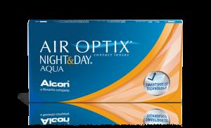 עדשות מגע חודשיות Air Optix Night & Day Aqua אייר אופטיקס