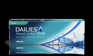 עדשות מגע צילינדר יומיות Dailies AquaComfort Plus Toric דייליס אקווה קומפורט