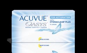 עדשות מגע צילינדר דו שבועיות Acuvue Oasys for Astigmatism אקיוביו אואזיס