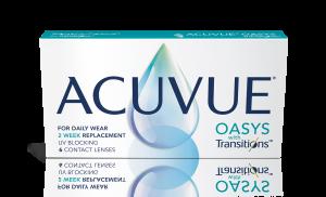 עדשות מגע חודשיות Acuvue Oasys Transitions אקיוביו אואזיס טרנזישנס